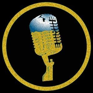 "The ""Cool Blue - Golden"" mic, the logo of voice actor Dennis William Murphy 949-903-0440"